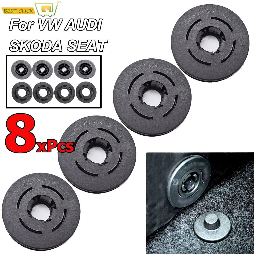 Car Carpet Floor Mat Clips Fastener Clamps For VW Passat Polo Golf Jetta Audi A1 A3 A4 A6 Skoda Octavia A5 A7 Seat Altea Loen