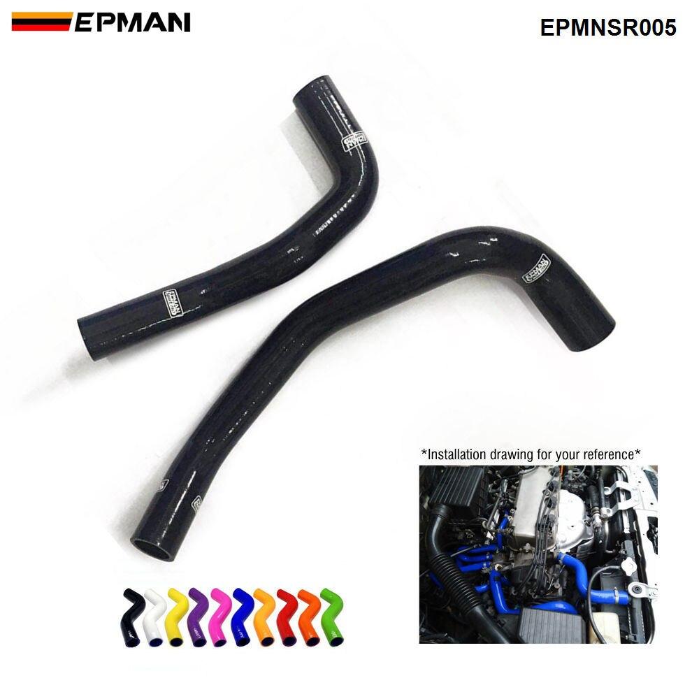Силиконовый интеркулер, комплект шлангов радиатора Turbo для Nissan Skyline R33 R34 GTS GTT GTS-T RB25DET 94-01 (2 шт.) EPMNSR005