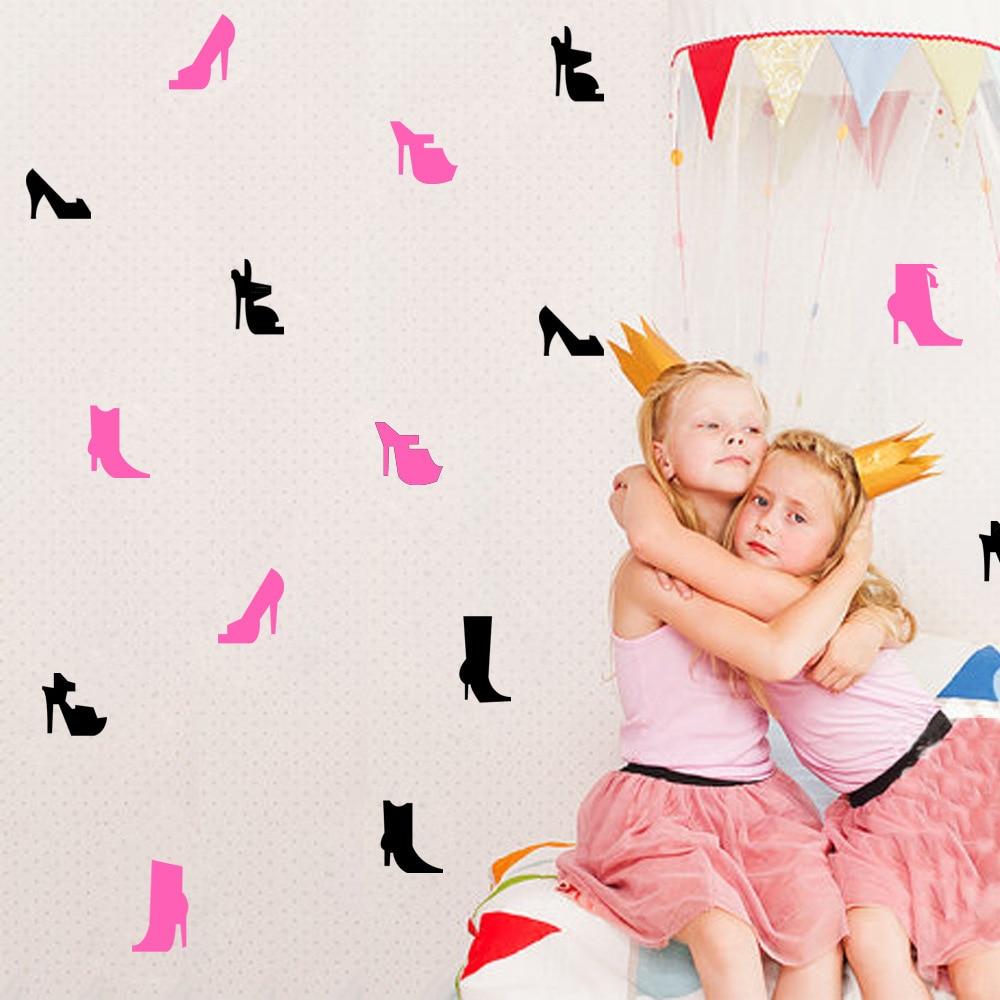 Calcomanías de tacón alto para decoración de pared, papel tapiz de vinilo, decoración para el hogar, para sala de estar, niños, niñas, habitación, pegatina decorativa