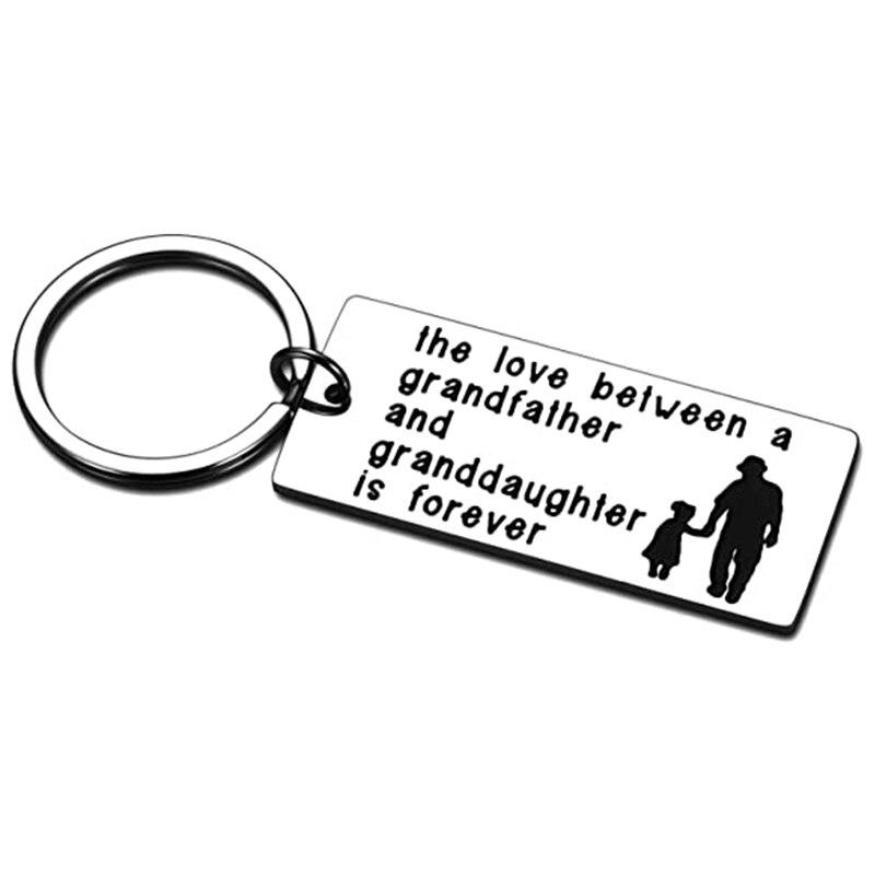 Брелок для ключей с изображением лучшего дедушки, подарок дедушке и внучке, брелок для подарка на День отца, день рождения, семейный подарок ...