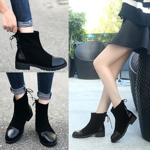 Women's Boots 2021 New Women's Riding Boots Short Tube Round Toe  Women's Fashion Boots Root Non-slip Comfortable Boots