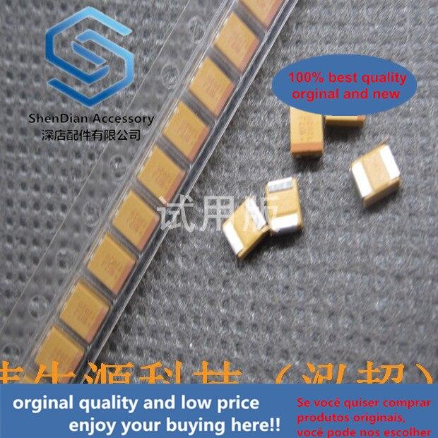 20 قطعة فقط الاصلي جديد الأصلي حقيقية SMD التنتالوم مكثف 3528B 6.3V 100 فائق التوهج 20% TAJB107M006RNJ 1210