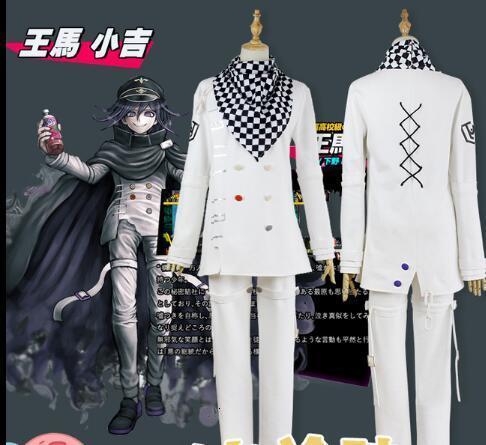 Disfraz de Cosplay Danganronpa V3 Killing Harmony Kokichi Oma Leader (sin capa ni sombrero)