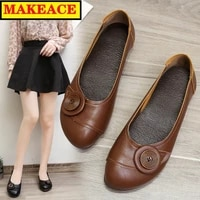 womens shoes fashion new button decoration womens flat shoes casual all match low top shoes party leather shoe leather flats