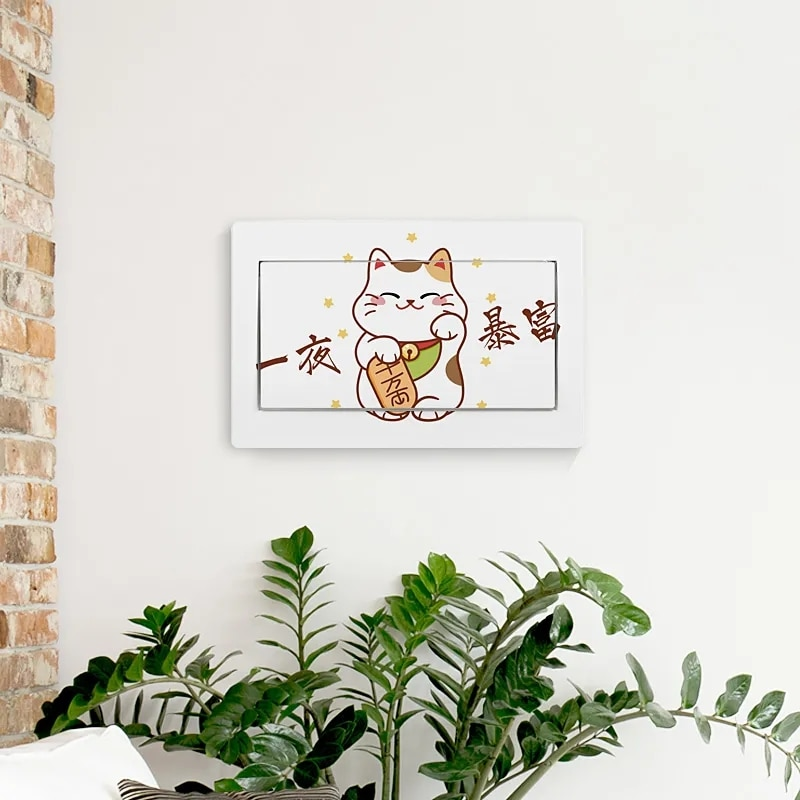 Wall stickers for Electric meter box decor posters animal Picture stickers home living room decoration accessories Art wallpaper