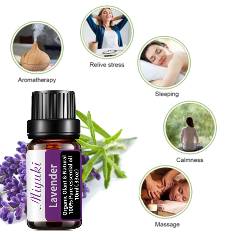 Lavender Essential Oil Aromatherapy Pure Natural To Improve Sleep Helps Relieve Stress Body Massage Facial Treatment недорого