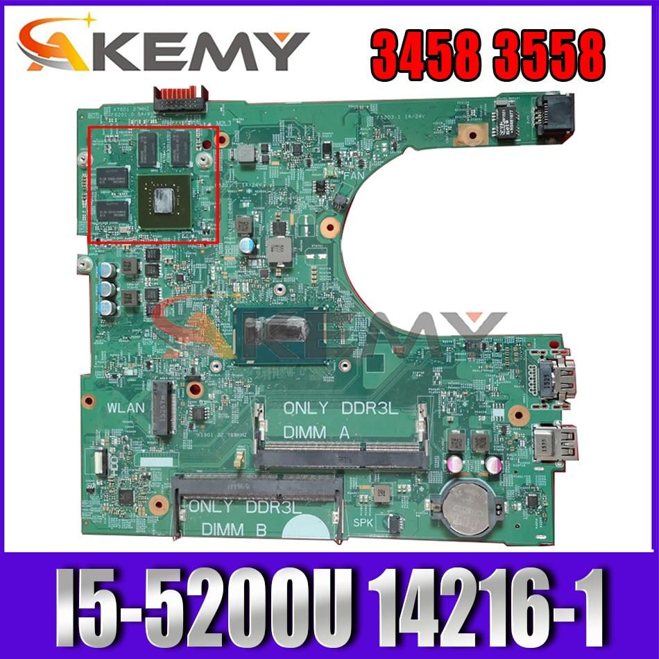 Akemy I5-5200U لأجهزة الكمبيوتر المحمول ديل انسبايرون 3458 3558 اللوحة الرئيسية 14216-1XVKN CN-0NWJK1 NWJK1 اللوحة الرئيسية 100% اختبارها