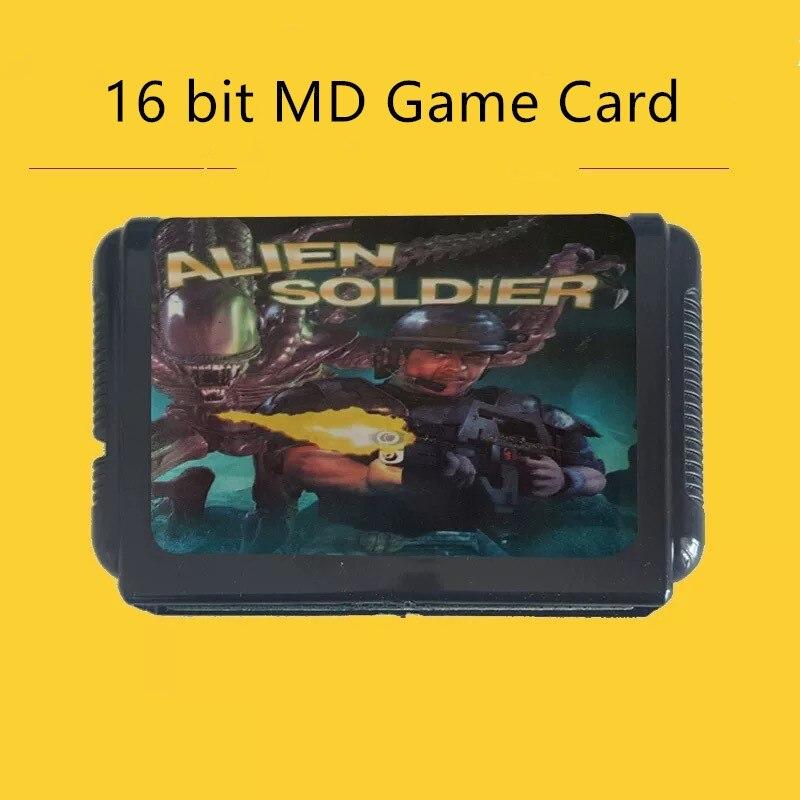Cartucho clásico de 16 bits para consola Sega, serie de cartas de...