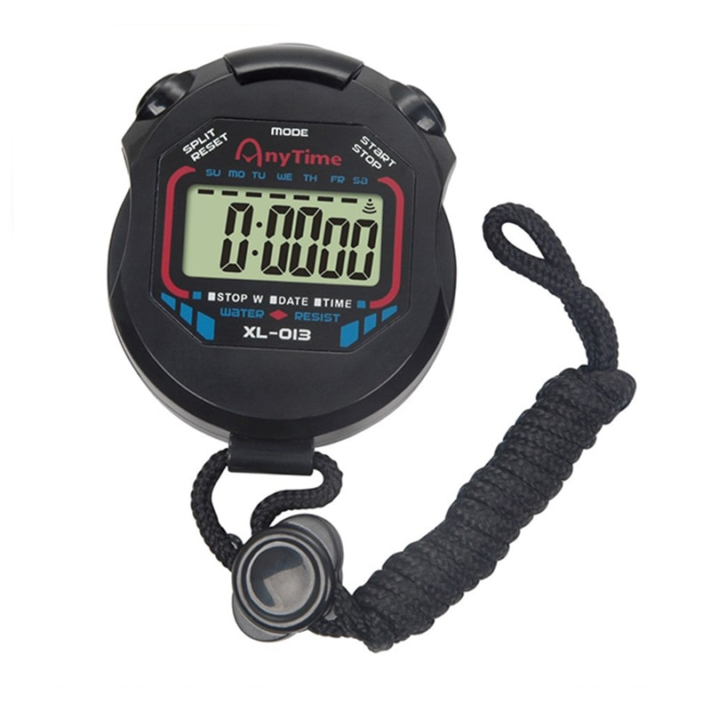 Kitchen Timers Classic Digital Professional Handheld LCD Chronograph Sports Stopwatch Timer Stop Wat