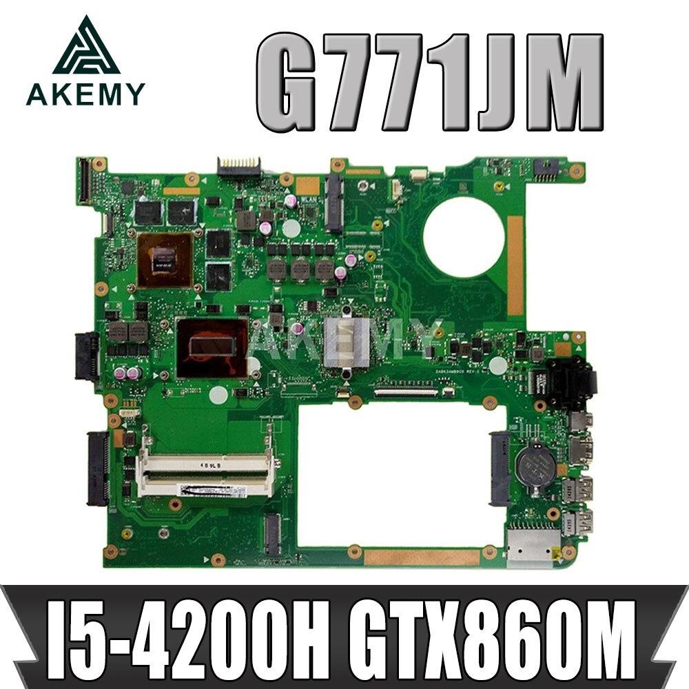 AKemy ل ASUS G771JM ROG GL771JM G771J G771JK I5-4200H GTX860M اللوحة المحمول اختبارها 100% العمل اللوحة الأصلية