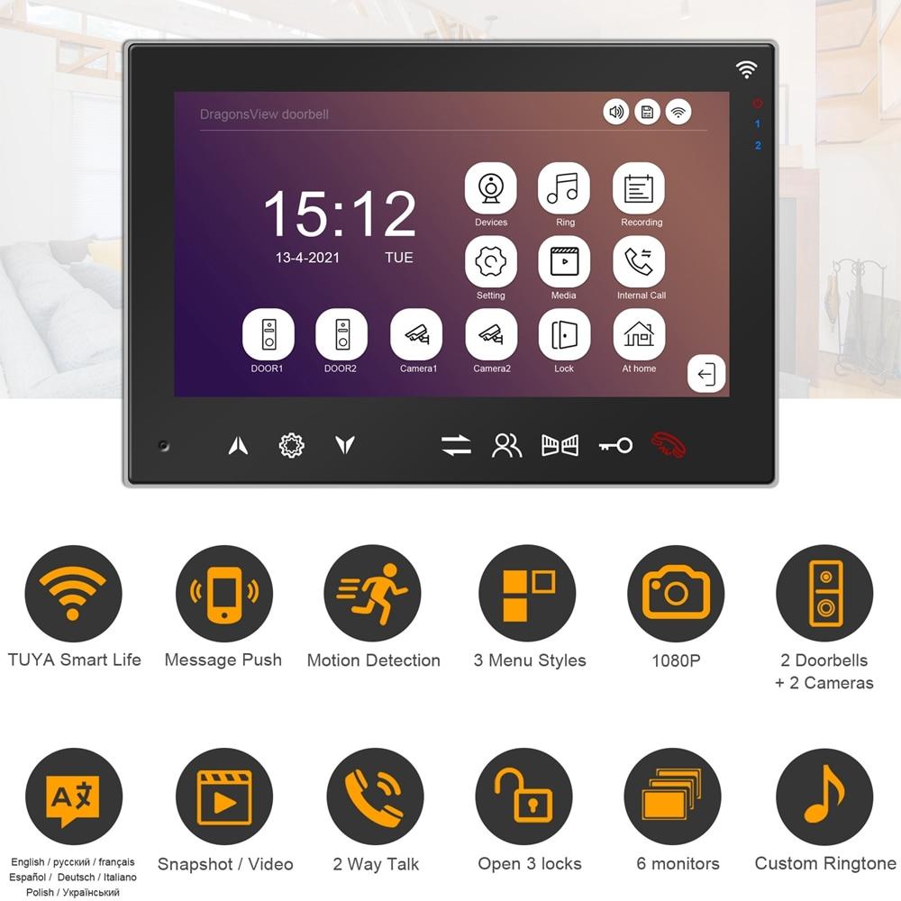 TUYA WIFI Intercom for Home Video Doorbell Camera 1080P RFID Call Panel Wireless Video Door Phone Intercom Access Control System enlarge