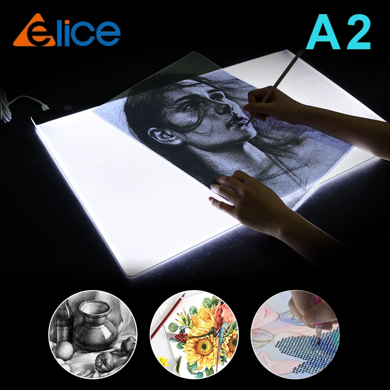 A2 Drawing Tablet LED Digital Graphics Light Pad Box Painting Tracing Panel diamond painting Accessories Copyboard Type C Power