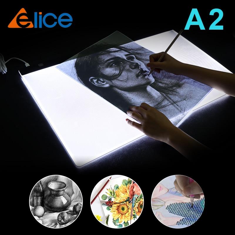 Tableta de dibujo A2, gráfica Digital LED, tableta de escritura, Panel de...