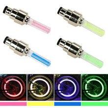 1 pièces vélo vélo pneu lumière vélos roue Valve capuchon néons luciole a parlé lampe à LED avec batterie