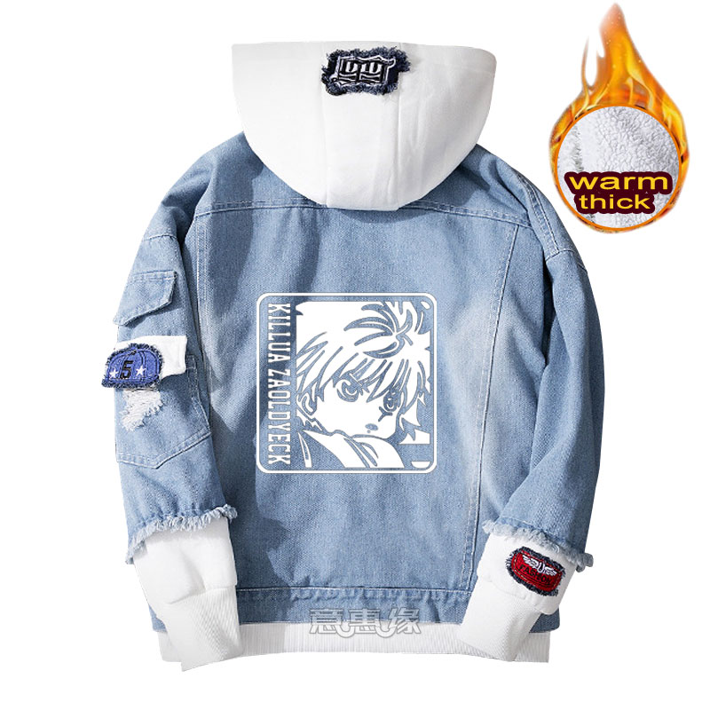 سترة كورابيكا جون فريكس بغطاء للرأس كيلوا زولديك سترة دينم للرجال والنساء للشتاء جينز ملابس خارجية سترة فضفاضة دافئة