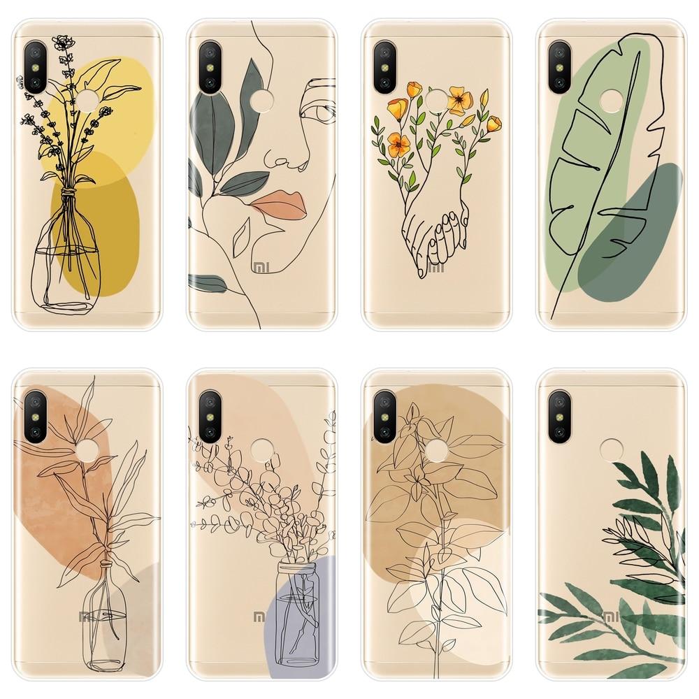 Aesthetic Flower Silicone Phone Case For Xiaomi MiA1 MIA2 Mi8 Back Cover For Xiaomi Mi A1 A2 Lite 8