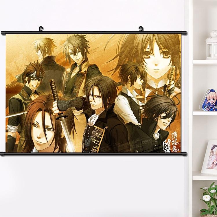 Anime hakuouki shinsengumi kitan toudou heisuke parede rolagem cartaz de parede manga pendurado cartaz decoração de casa arte imagem 40x60cm