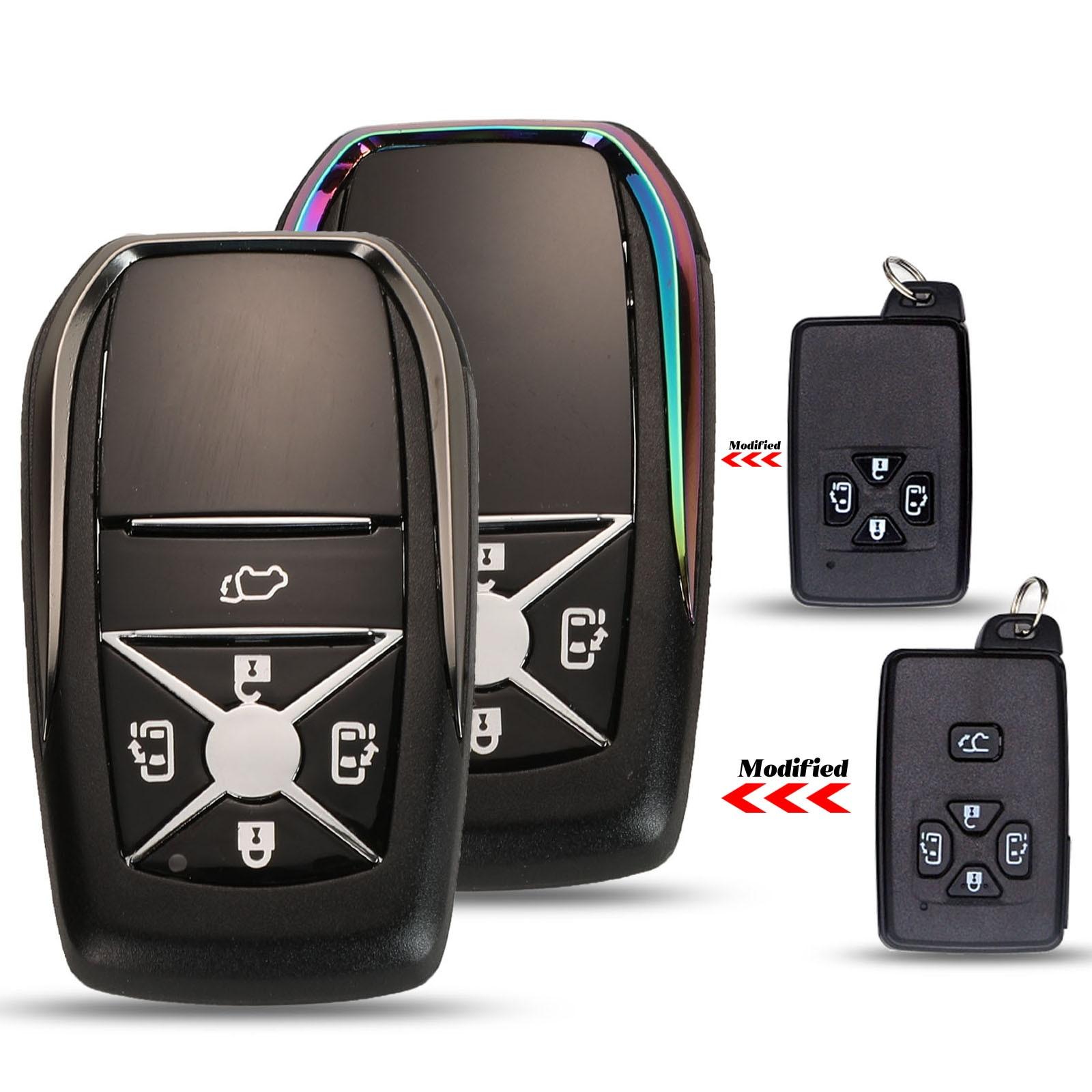 Jingyuqin, carcasa de repuesto de actualización, caja de llave remota inteligente Fob 4/5 botones para Toyota Previa Alphard Prius con hoja de inserción