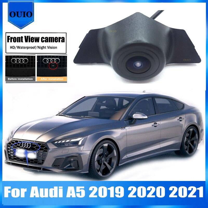HD Автомобильная Камера Переднего Вида   Для Audi A5 2019 2020 2021 Ночное видение/водонепроницаемый Фронтальная камера/парковка логотип Фронтальная ...
