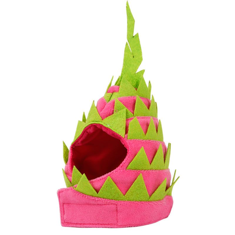 Divertido gato Pitaya sombrero perro Halloween sombrero de fruta mascota disfraz fiesta vestido
