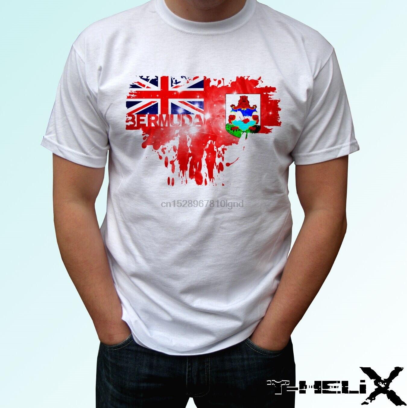 Bandera de Bermudas, camiseta blanca, diseño de camiseta, tallas de bebé para hombres y mujeres