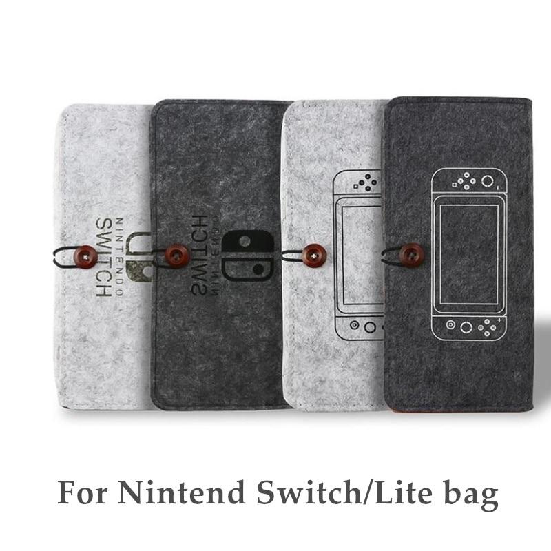 Bolsa de almacenamiento de fieltro duro portátil para Nintendo Switch lite con protección del interruptor