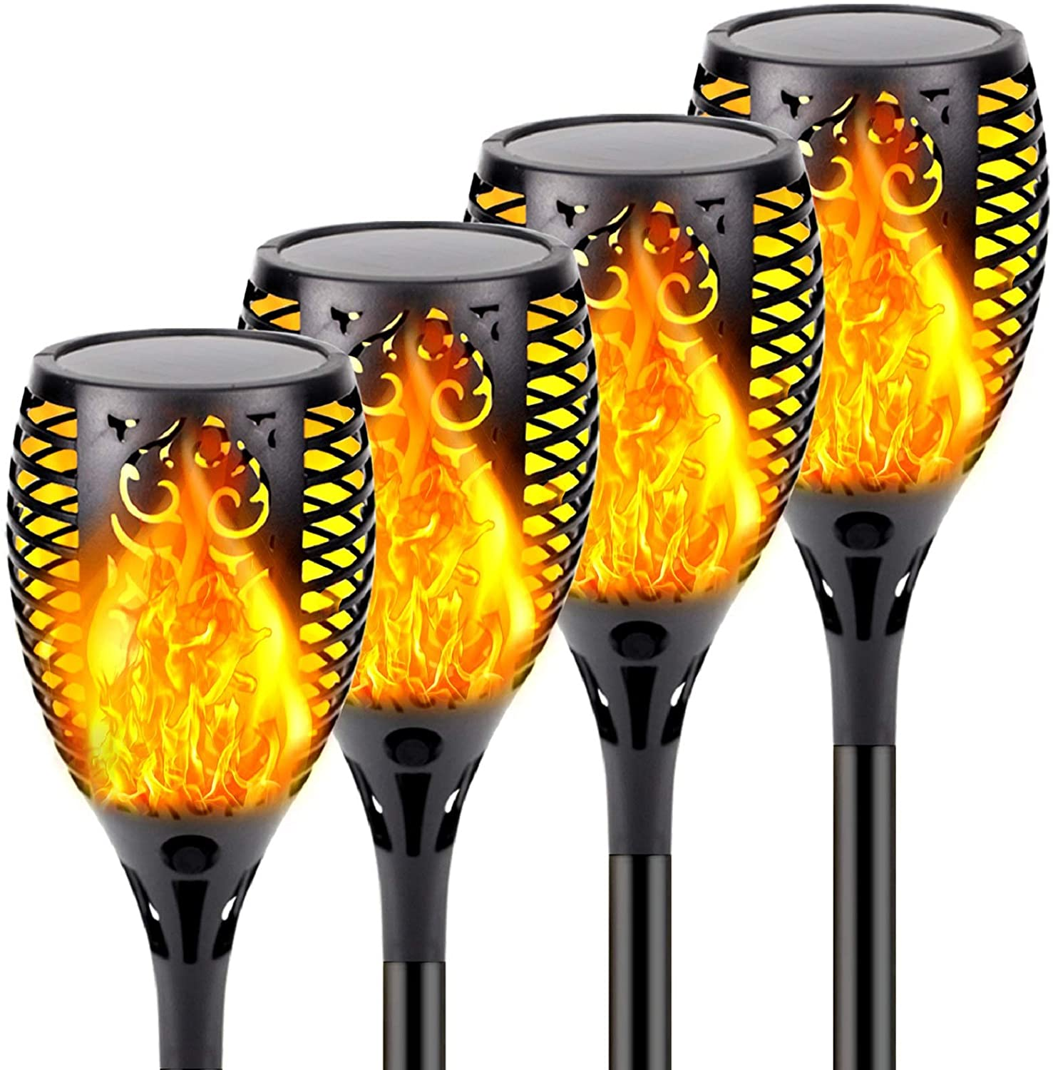 AliExpress - Solar Flame Lights Waterproof Flickering Flames Torches Lights Outdoor Solar Flame Lights Decoration Lighting Dusk to Dawn Auto