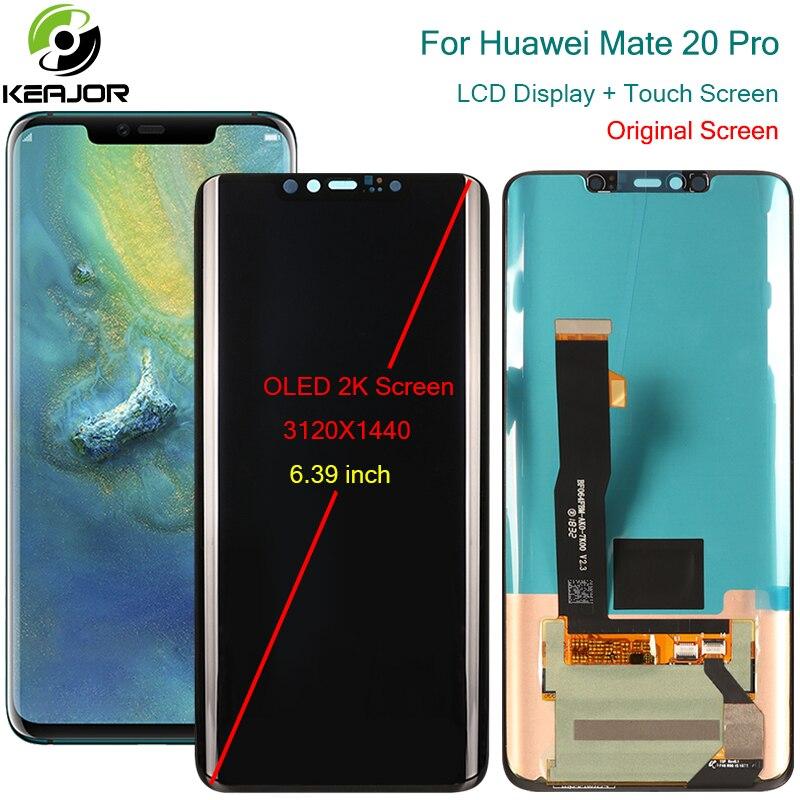 Para huawei companheiro 20 pro display lcd oled substituição do painel de vidro da tela toque para huawei companheiro 20 pro display digitador acessório