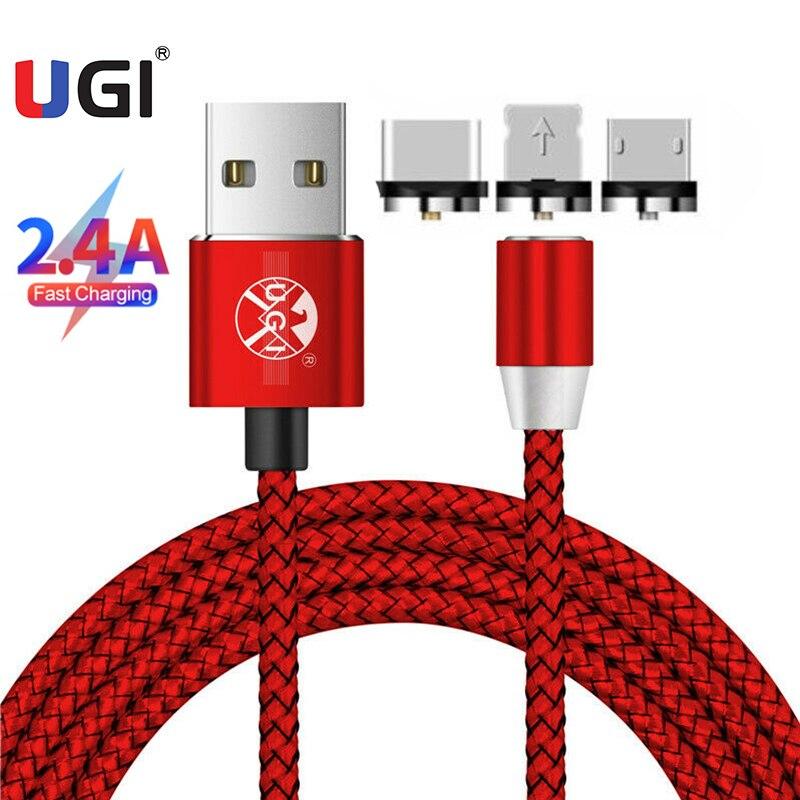 UGI 360 ° Cables magnéticos 2.4A rápido Cables de carga de Micro...