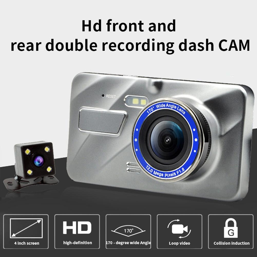 3,6 pulgadas HD 1080P 170 grados coche DVR lente Dual gran angular videocámara cámara de salpicadero