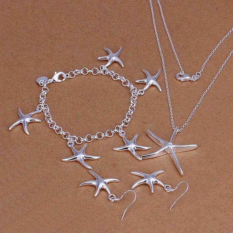 Серебро-925-пробы-искусственная-романтическая-подвеска-в-виде-морской-звезды-ожерелье-серьги-браслет-комплект-ювелирных-изделий-подарок