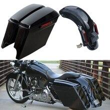 Sistema de guardabarros trasero CVO de 5 pulgadas para motocicleta Harley Touring Road King Street Electra Gilde FLHT FLHTCU 2014-2020