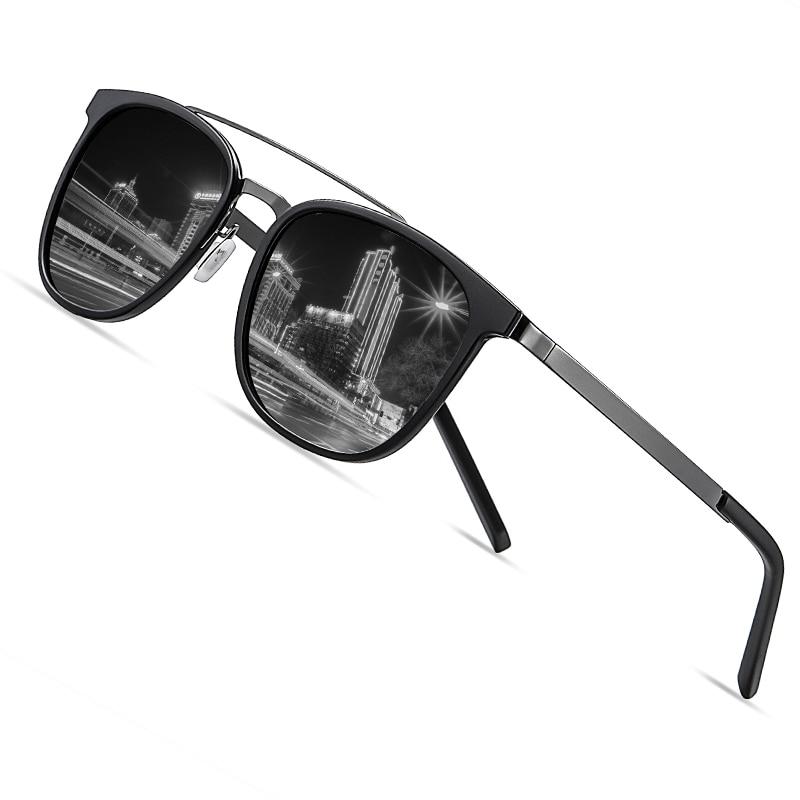 AOFLY Brand Design Polarized Sunglasses For Men Fashionable Square Anti-glare Women's Sun Glasses Alloy Frame Shadows Male UV400