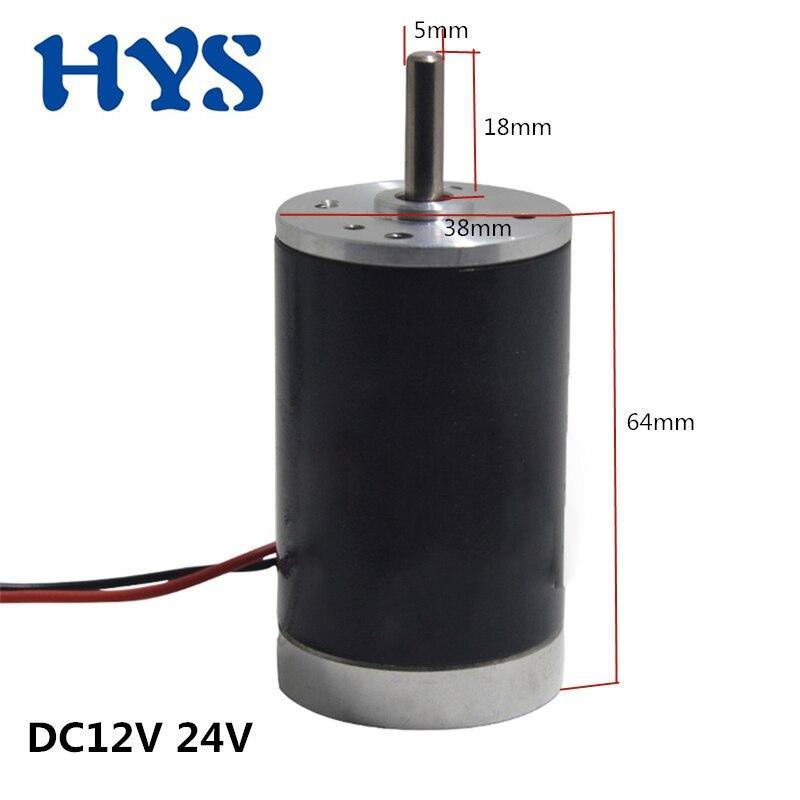 10 واط عالية السرعة المحرك الكهربائي DC12V24V 2000/3000/4000/5000/6000 دورة في الدقيقة عكس النحاس فرشاة مزدوجة الكرة منخفضة الضوضاء لتقوم بها بنفسك أداة 38SRZ