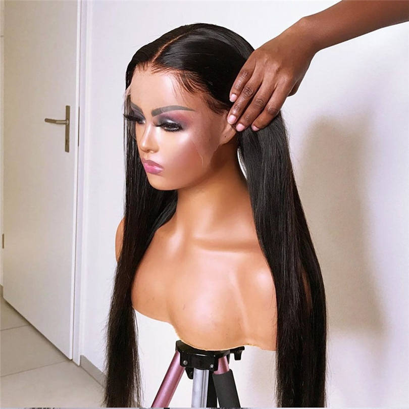 13*4 Lace Front Wigs Long Straight Heat Resistant Fiber Synthetic Wig For Women Pre Plucked with Natural Hairline and Baby Hair