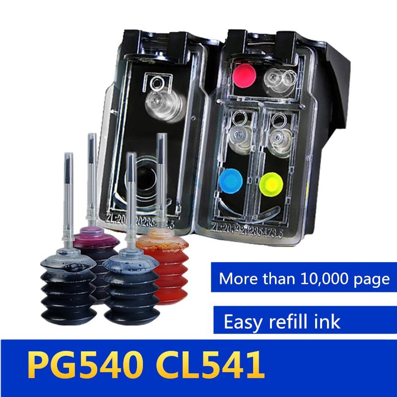5AA многоразовый картридж Замена для Canon PG540 CL 541 использование для Canon Pixma MG4250 MX375 MX395 MX435 MX455