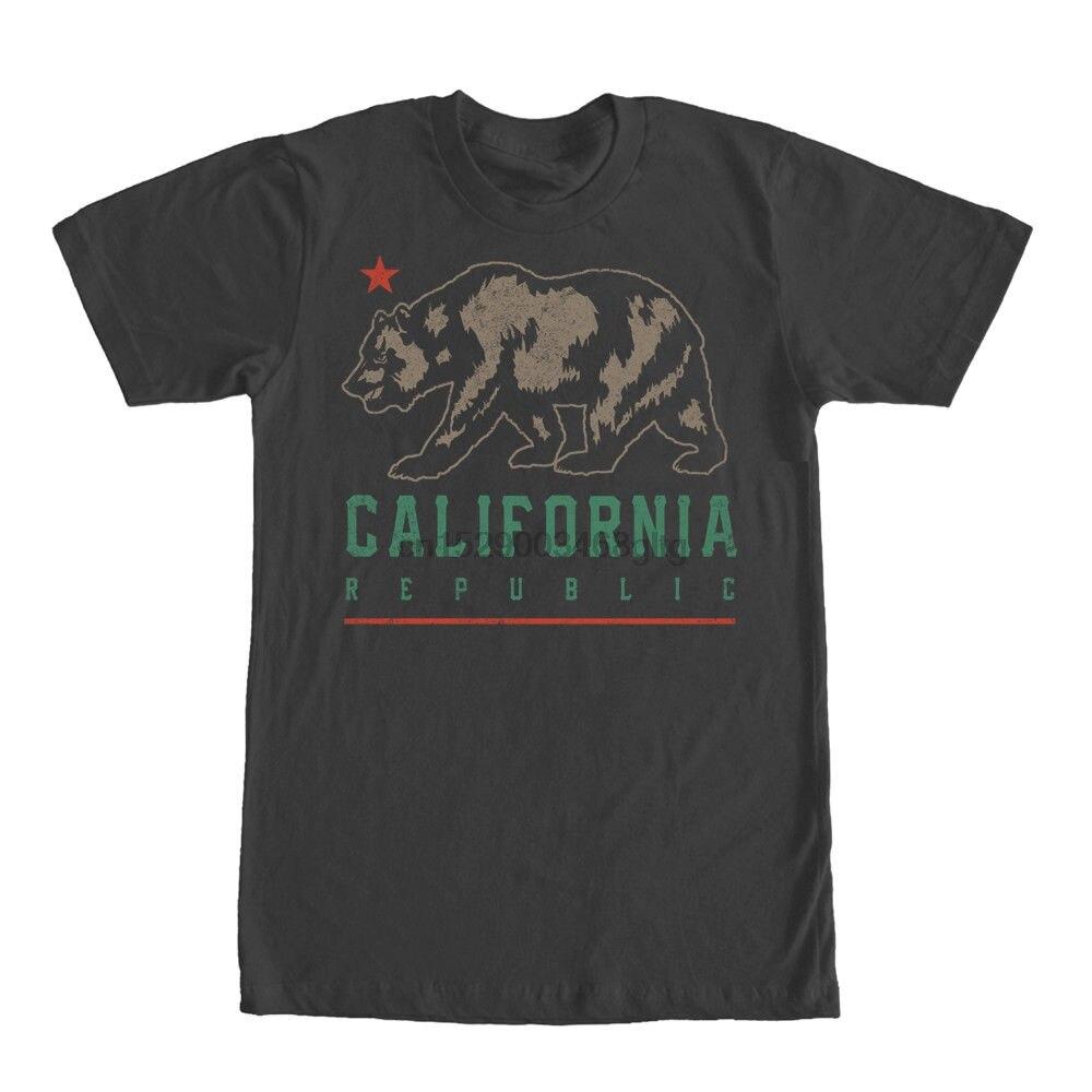 T-Shirt for Male Short Sleeves 100% Cotton Classic Lost Gods California  Bear Shadow Mens Graphic T Shirtskull T Shirt