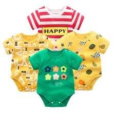 Newborn Baby Summer Short Sleeved Bodysuit Summer Thin Cotton One-piece Triangle Bag Fart Clothes Fo