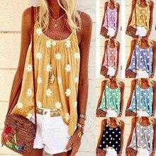 Sexy mujer 2020 verano Casual Beach Befree impreso bohemio Floral Strap sin mangas Tank Tops mujer camisa Camis