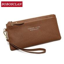 BOBOSCLAN bracelet pochette portefeuille femmes nombreux départements femme portefeuille fermeture éclair concepteur dames sac à main sac à main téléphone portable poche