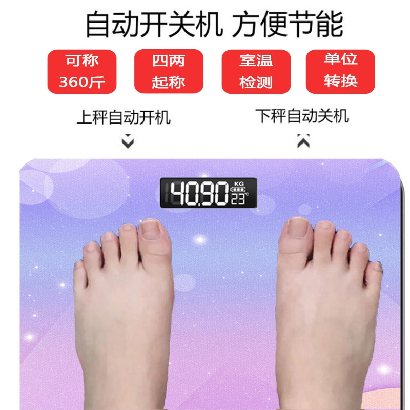 Cute Usb Scale Small Precision Health Body Fat Scale Digital Machine Bathroom Bilancia Pesapersone Household Items DI50TZC enlarge