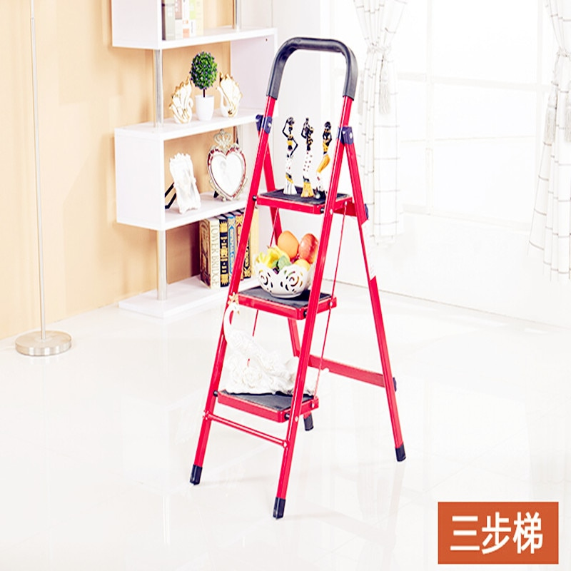 Multi-Function Folding Thicken Wide Pedal Iron Material Antiskid Mobile Herringbone Ladders 3 Colours Available