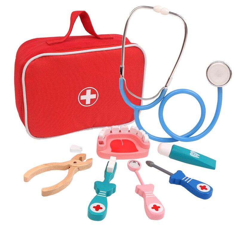 brinquedos de madeira para criancas 8 pecas jogo de medicamentos para educacao conjunto