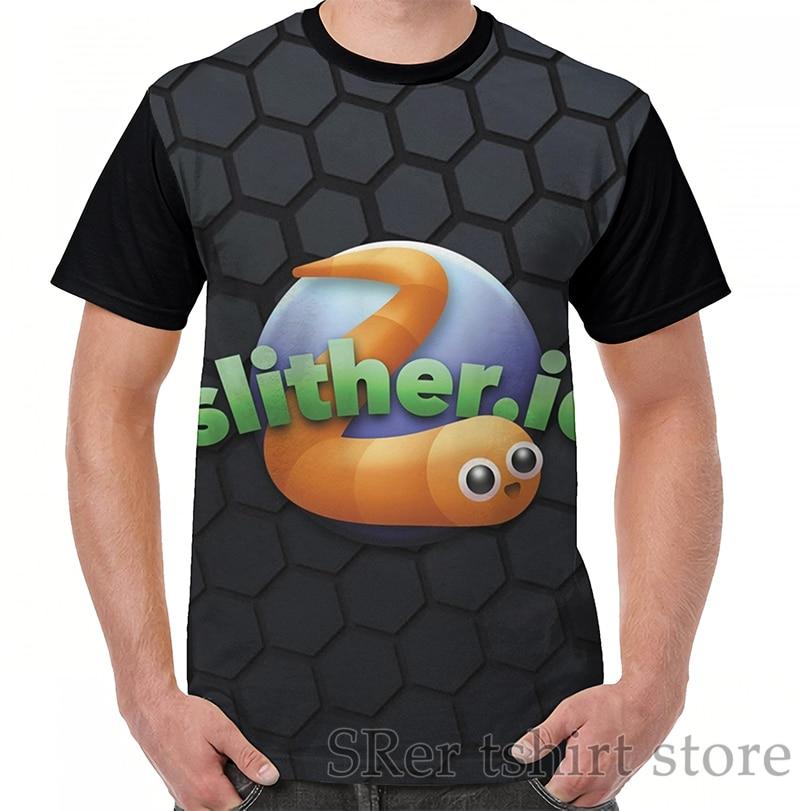 Funny print men t shirt women Tops tee Slither io Graphic T-Shirt men O-neck Short Sleeve Casual tshirts