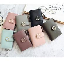 Women Fashion Small Wallets Leather Purse Card Bag Clutch Purse Money Clip Wallet PU Leather Synthet