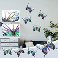 Papillon en fer forge  decoration murale suspendue  fait a la main  en metal forge  pour la maison et lexterieur