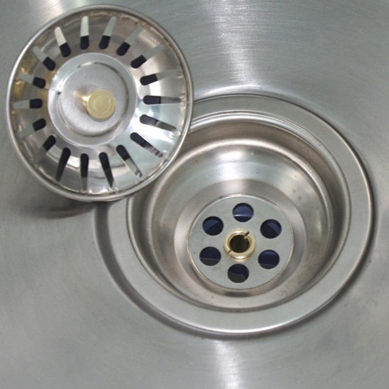 1 pc pia filtro de aço inoxidável rolha banheiro bacia dreno filtro filtre acessórios do banheiro cabelo catcher cozinha ferramentas