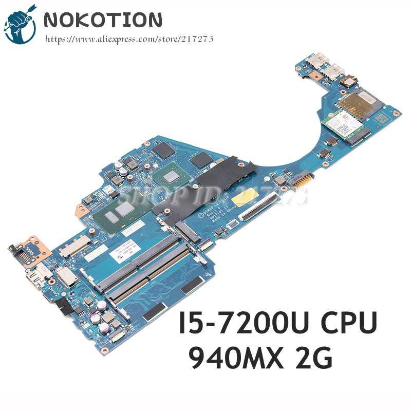 NOKOTION ل HP 14-BF 14-bf058TX اللوحة المحمول I5-7200U CPU 940 متر X 2 جيجابايت DCM40 LA-F031P 930577-601 930577 -001