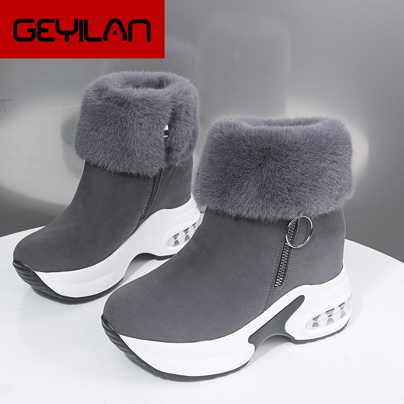Women Ankle Boot Warm Plush Winter Shoes For Woman Boots High Heels Ladies Boot Women Snow Boots Win