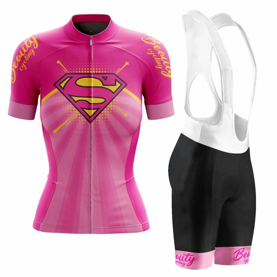VEZZO-maillot de manga corta para ciclismo para mujer, ropa de equipo profesional,...
